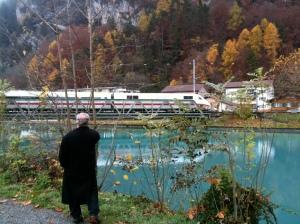 Trains in Interlaken